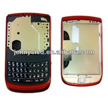 Original cell phone housing for Blackberry 9800 full housing red