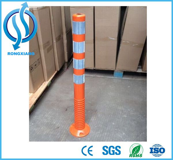 orange spring post/traffic bollards
