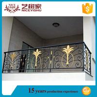 Yishujia factory Fence Railing Parts Forging Rod Wrought Iron Balcony Rail