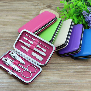 nails supplies fashional multipurpose Personal Beauty Care small custom 7 girl manicure set
