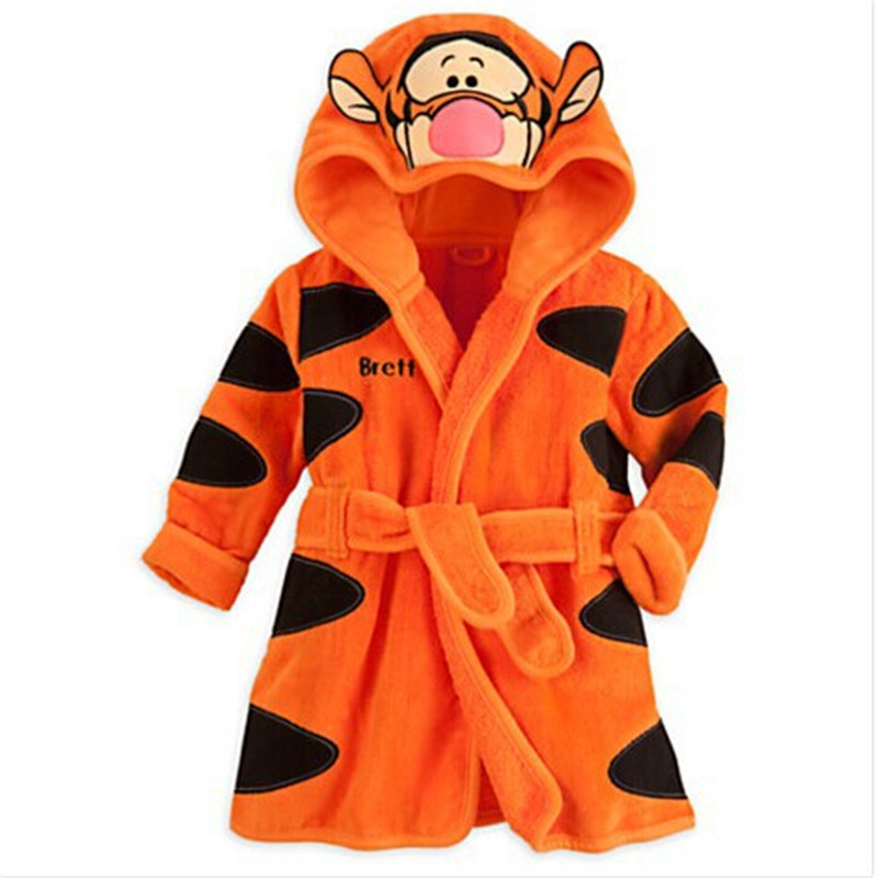 Get Quotations · children character Bathrobes kids cute sleepwear warm  flannel Bathrobes sleepwear robes for boys and girls ebe83ee4c