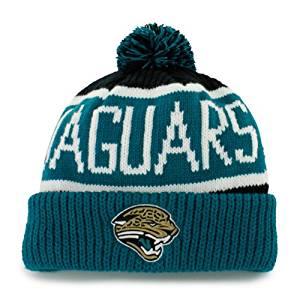 Jacksonville Jaguars  47 BRAND Calgary Pom Top Cuff Knit Ski Cap Hat Beanie 57b797f9f