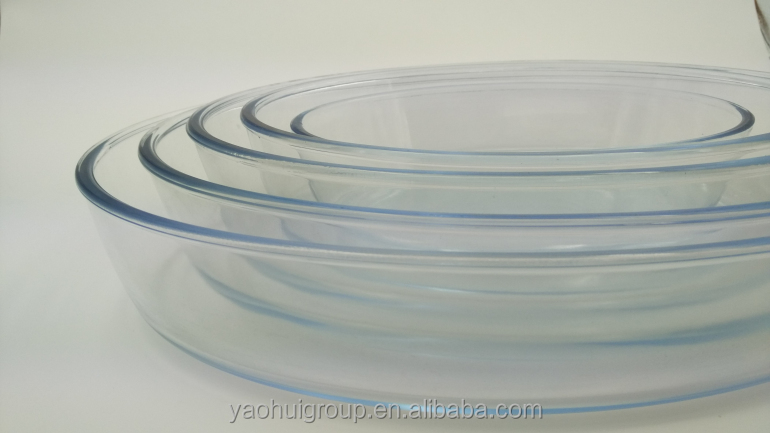 Borosilicate Glass oval Baking dish with special design