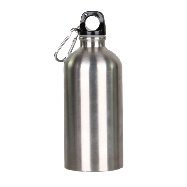 Out door sports single wall stainless steel drink bottle with carabiner