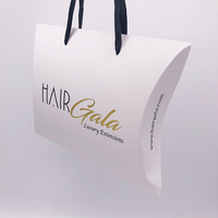 Personalized hair extension packaging boxes with gold foil logo/human hair box braid wig/hair packaging supplies