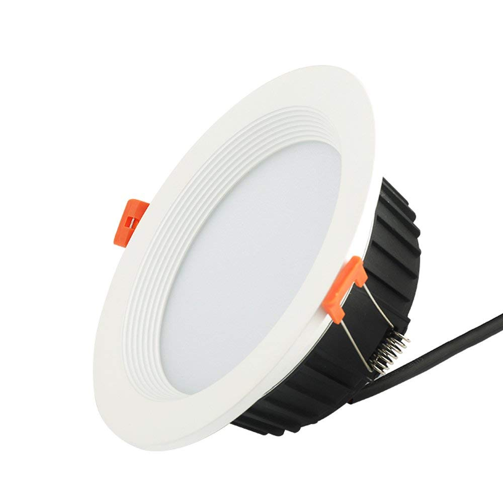 Splindg LED Recessed Downlight 9w 14w 18w 3.5inch 4inch 5inch High Lumen Spotlight 3000k 6000k Die Casting LED Downlights Ceilling Lights (Color : Cold White, Size : 5 inches 18W)