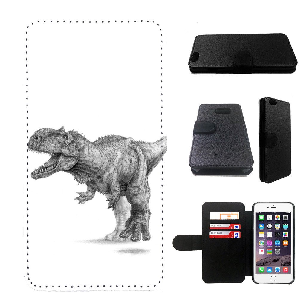 dinosaur Samsung Galaxy note 4 wallet leather case, galalxy note 4 wallet case, galaxy s5 flip case, black