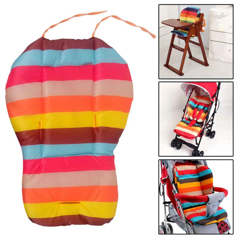 Baby Infant Rainbow Color Soft Thick Pram Cushion Chair BB Car Seat Cushion