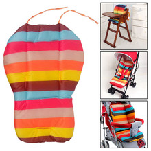 Baby Stroller Cushion Pad Baby Infant Stroller Accessories Rainbow Color Soft Thick Prams Cushion Chair BB