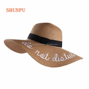 women's summer beach sun wide brim straw floppy hat