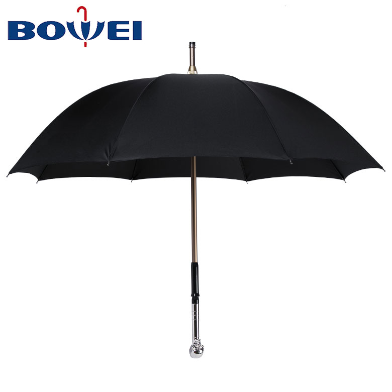 Promotional Custom High Quality  Rain Windproof Sun Automatic Golf Umbrella With Skeleton Handle
