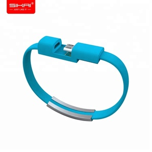 SIKAI New fashion bracelet data cable creative gift usb data line wearable android type-c mobile charging cable