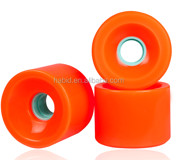 High quality pu Polyurethane Die-casting 60mm 70mm longboard skateboard wheel