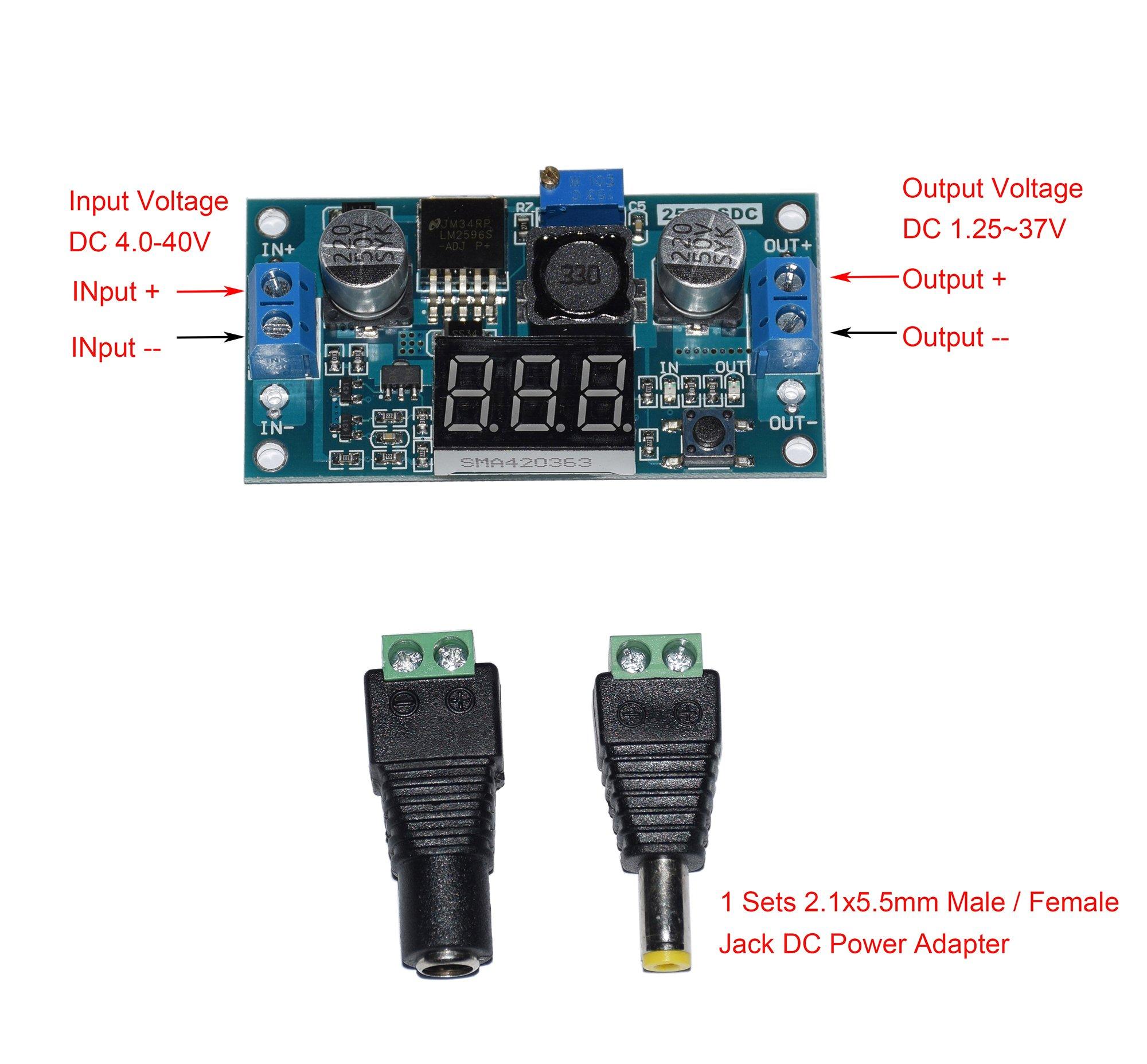 Buy Lm317t New Imported St 12 37v Adjustable Regulator To 220 In Cofufu 40 40v 125 5 12v Dc Lm2596 Voltage Experimental Power Buck Converter Led Voltmeter 1 Sets 21x55mm Male Female