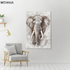 Hotel decoration wild animal oil painting on canvas for living room