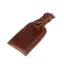 Vintage- Genuine Leather Luggage Bag Tags Travel ID Bag Tag Airlines Baggage Suitcase Labels