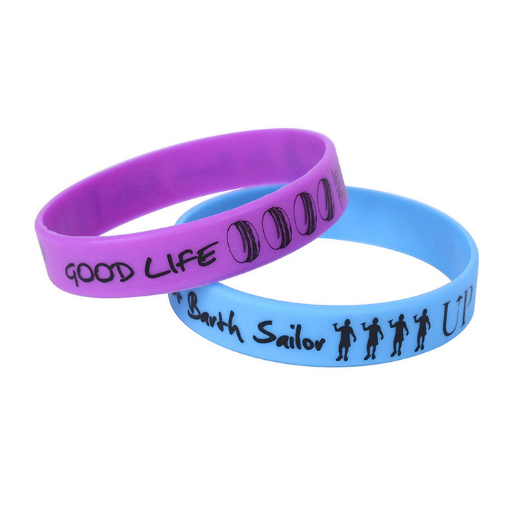 Promotional Personalized Rainbow Silicone Bracelet