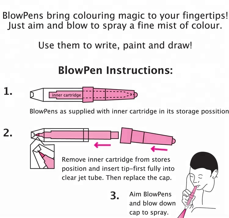 Blow Pens bring colouring magic to your fingertips water color markers