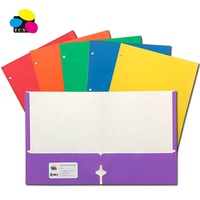High Quality Cheap ECO-Friendly Lehui Letter A4 Size High Quality Assorted Color Two Pockets Paper File Folder