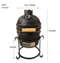 Mini Tabletop Ingebouwde Keramische BBQ <span class=keywords><strong>Grill</strong></span> Ronde Ei <span class=keywords><strong>Kamado</strong></span> 12 Inch