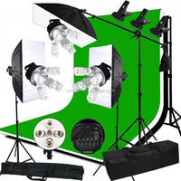 Studio Kit Photography Light E27 Single Lamp Holder + 50*70CM Softbox +2M Light Stand Photo Soft Box