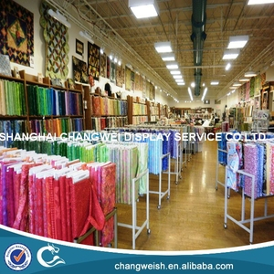 textile display racks/fabric display hangers
