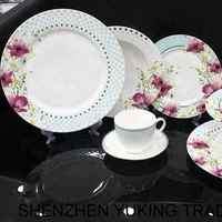 21pcs Fine Bone China Dinner Set Porcelain Dining Sets Ceramic Tableware Plates China Factory