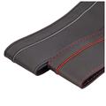 3 גודל ספורט לנשימה סוג כיסוי גלגל הגה עור רך כיסוי הגה שחור, אדום, בסגנון קלאסי צמה על ההגה