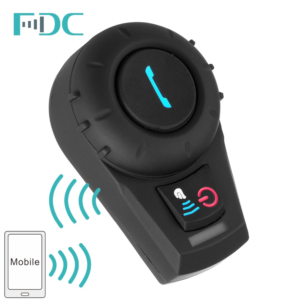 Motorcycle Interphone 500M BT Bluetooth FM Radio Motorcycle Helmet Intercom Headset intercomunicador for Phone/GPS/MP3