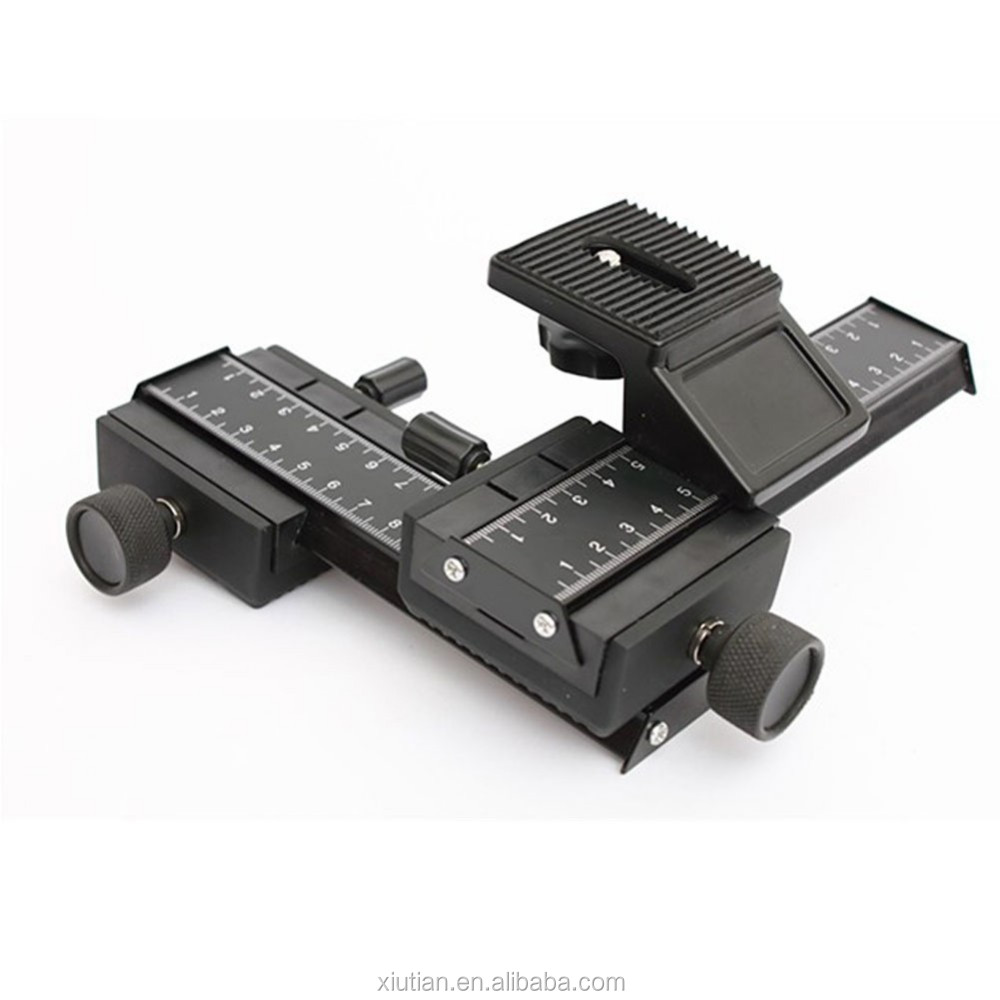 High-quality 4 Way Macro Focusing Rail Video Slider for Close-up Shooting