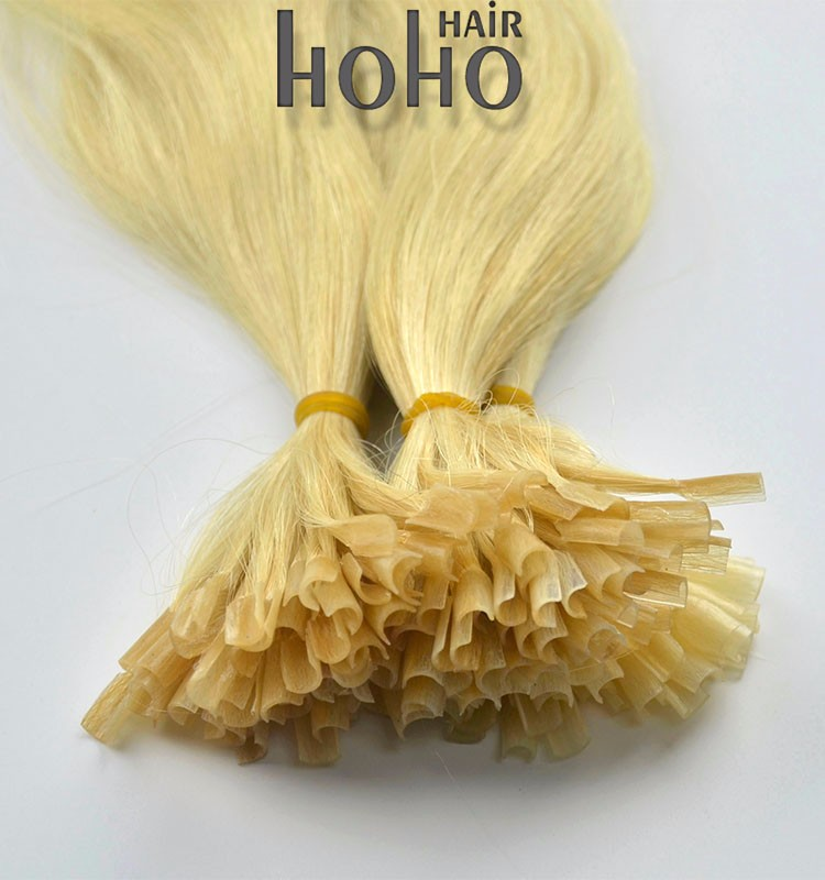 20 inch blond color italy glue keratin u tip extension brazilian human hair