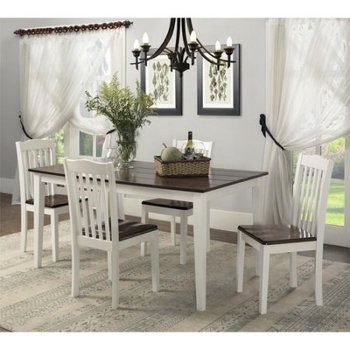 4 Seater Or 6 Seater Dining Table Set In White And Brown Color Turkish  Dining Room