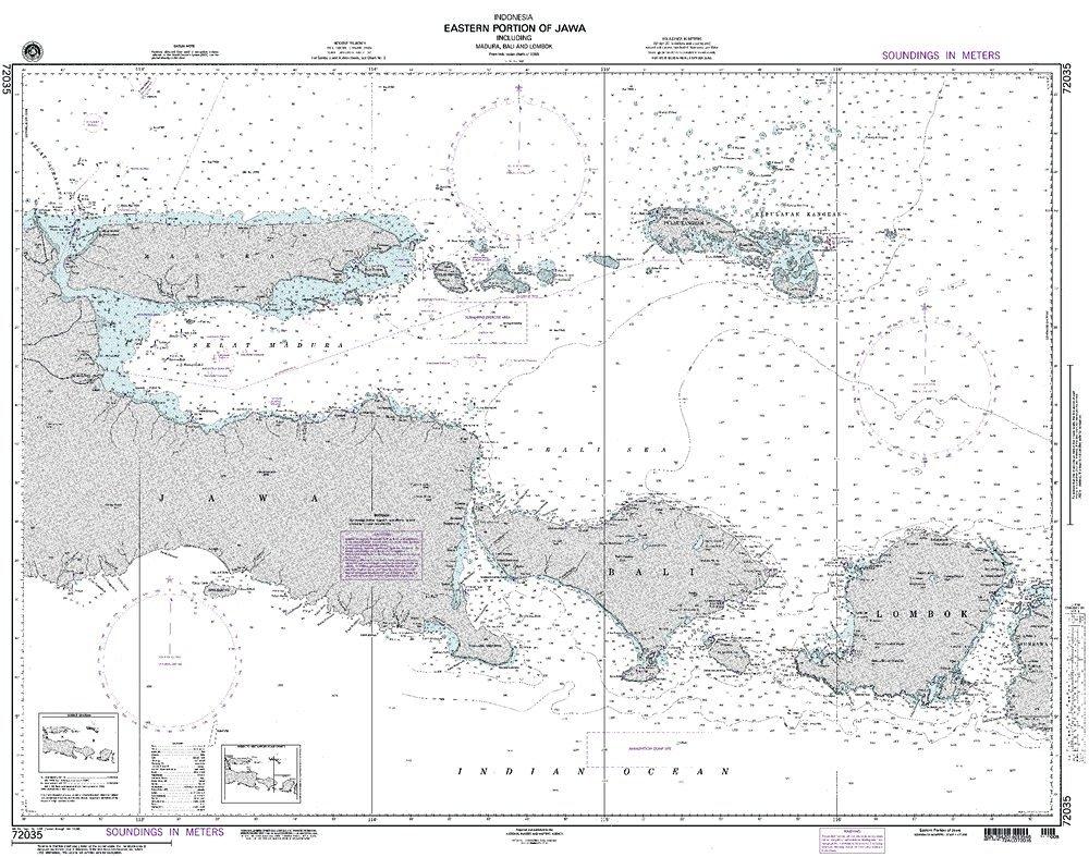 NGA Chart 72035: Eastern Portion Of Jawa; 33 X 42; TRADITIONAL PAPER