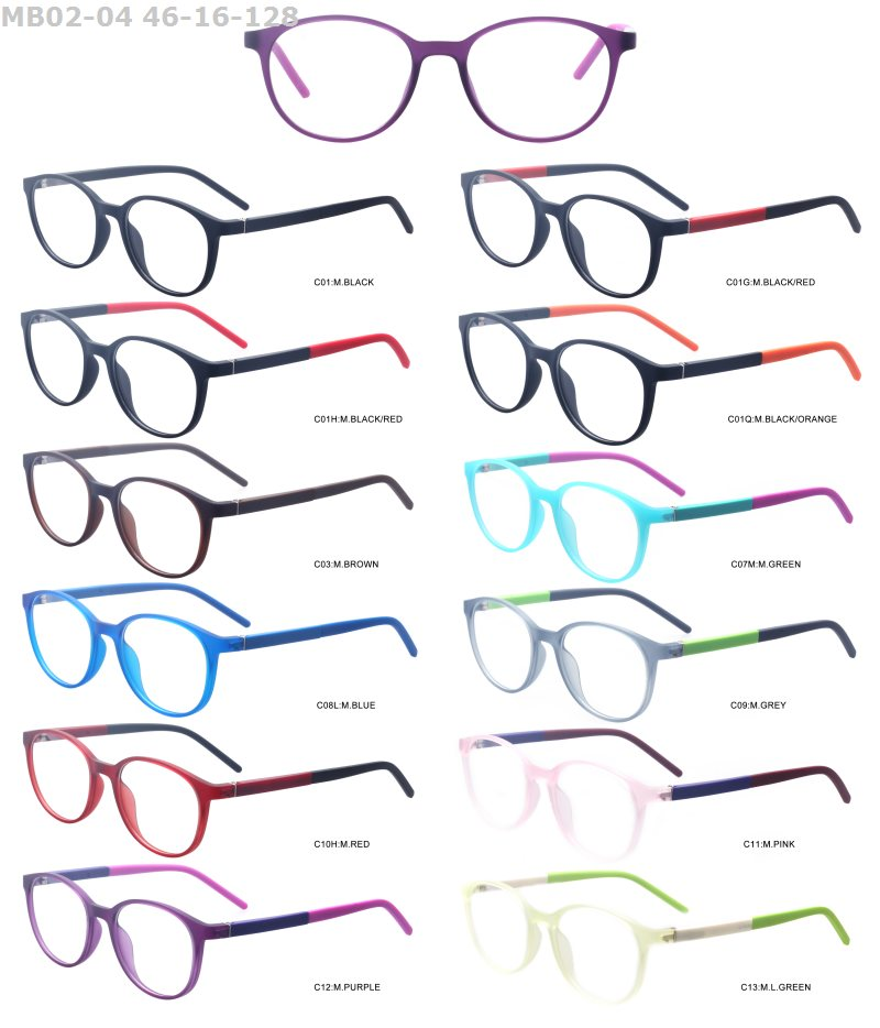 China wholesale cheap round style TR90 promotional colorful stock lot optical eyeglasses frame