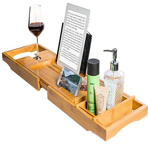High Quality bamboo bath caddy tray