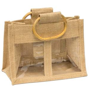 Popular cheap wine bottle jute bagwith PVC