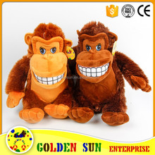 GSV SEDEX Factory high quality stuffed promotion plush monkey toys