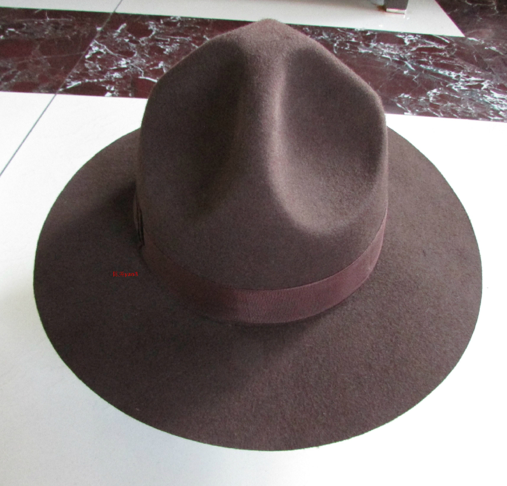 74619caee30 2019 Wholesale 2015 100% Wool Mountain Hat Brown 8.5cm New Arrival ...