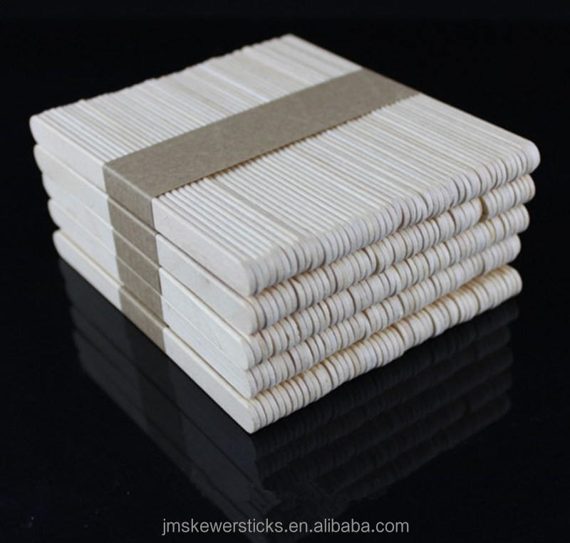 Flat Birch Wood custom popsicle sticks