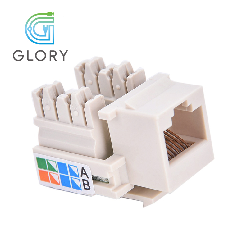 Hot Sale Communication Modular Jack For Internet Connecting  RJ45 Cat5e Keystone Jack
