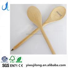 customise promotional and advertising wooden logo spoon shaped ball pen