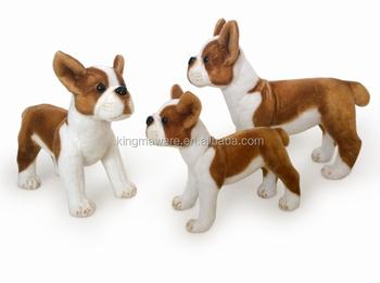 Stuffed Boston Terrier Dog Toy