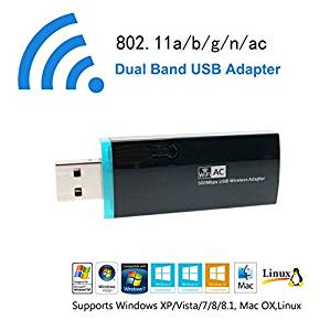 LWD AC 600M USB Wifi Wireless Adapter Hotspot Wireless Network WLAN Card Reception Repeater Range Extender Signal Booster Dual Band Amplifier Mini AP Dongle for Win10 Vista XP MAC OS Linux