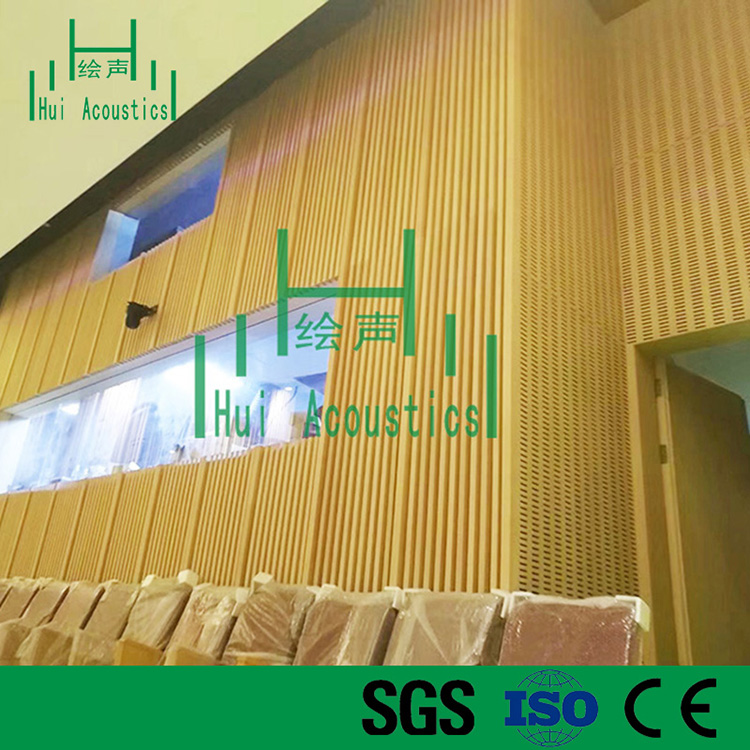 MDF Slotted Acoustic Panel Slotted Melamine MDF Wall Board Meeting Room Acoustic