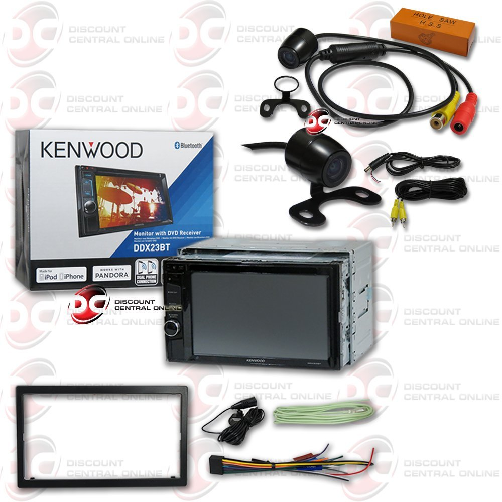 """Kenwood Double DIN 2DIN 6.2"""" Touchscreen Car AM/FM DVD MP3 WMA CD Player USB Bluetooth with JDM 170° Rear view Back-up Camera"""
