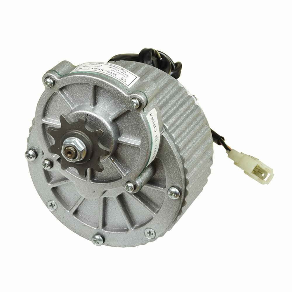 Alvey 48 Volt 450 Watt My1018 Gear Reduction Electric Motor With 9 Tooth 420 Chain Sprocket