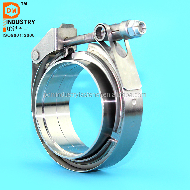 Stainless Steel turbo exhaust system pipe V band Clamp