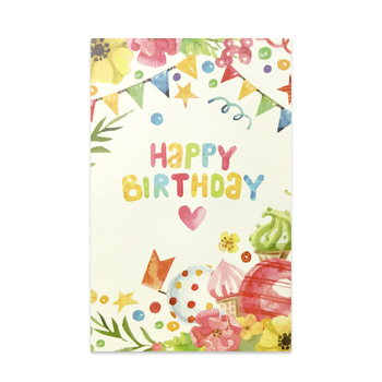 Custom Design Birthday Best Wishes Handmade Thank You Cards With Envelope