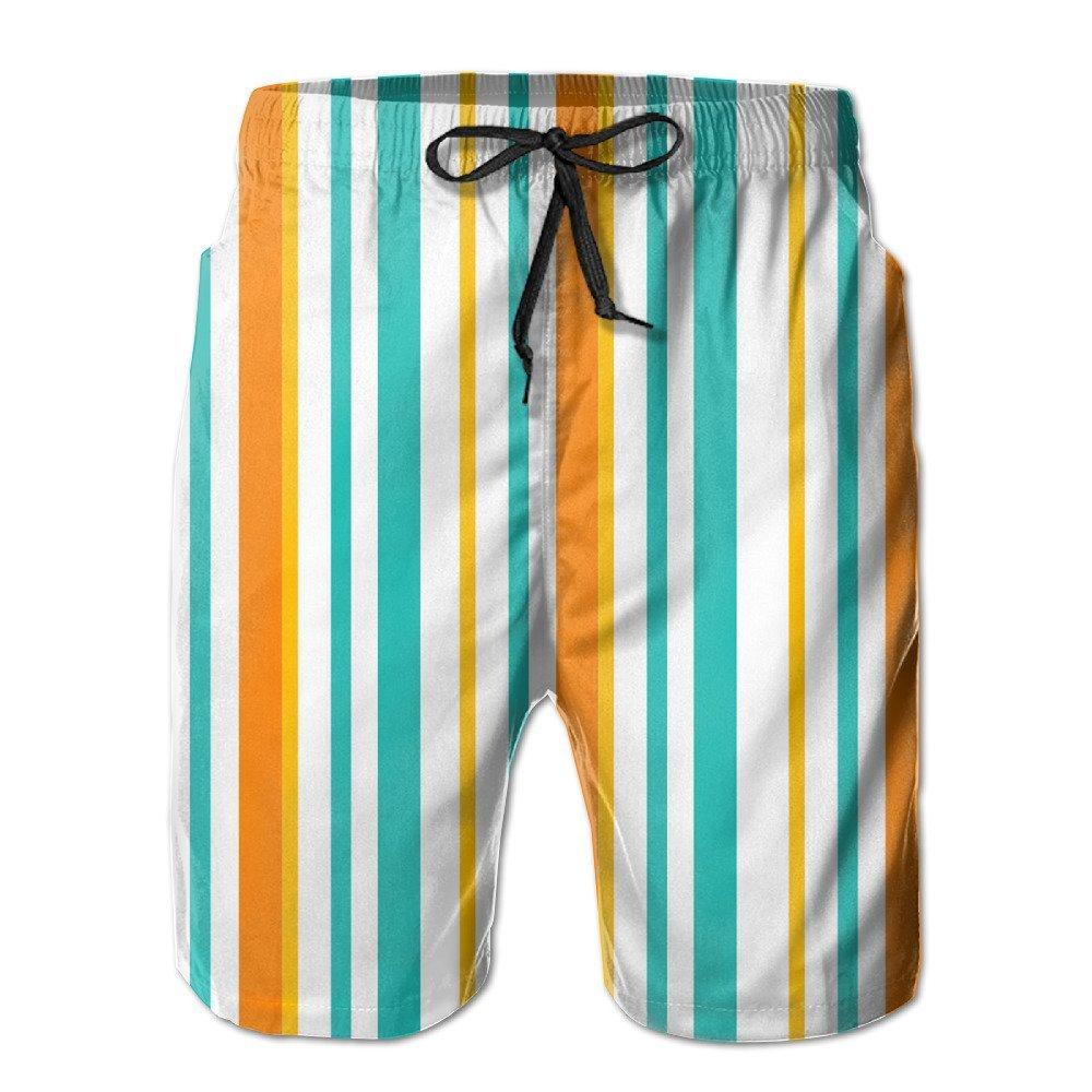 b2b33cd3f4 Get Quotations · Bdna Colour Stripes Men's Beach Shorts Swim Trunks Casual  Sport Print Short Pants Jogging Pants