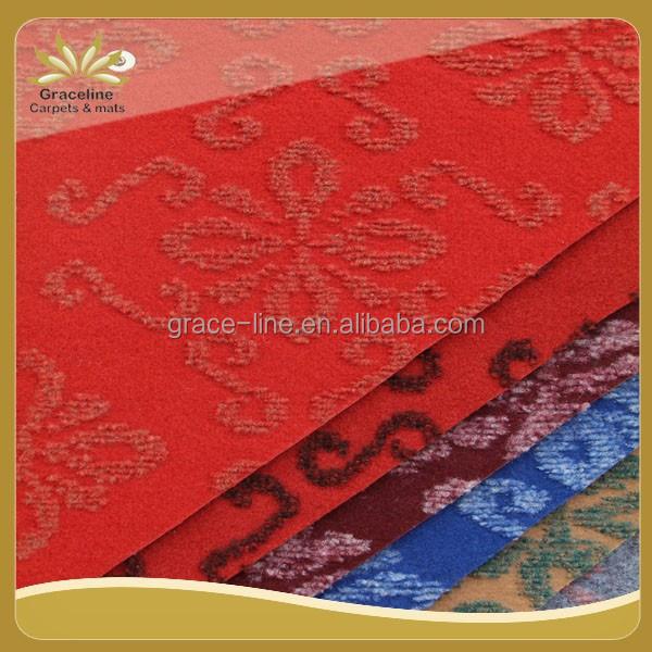 Gute qualität doppelfarben veloursjacquard teppich für